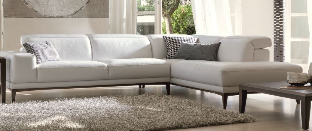 white sectional couch horizon home furniture. Black Bedroom Furniture Sets. Home Design Ideas