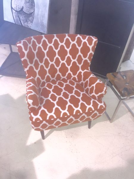 Rust Orange Upholstered Chair