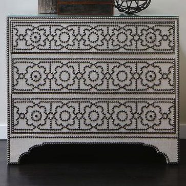 bernhardt-nailhead-chest-black-baroque-picture-frame