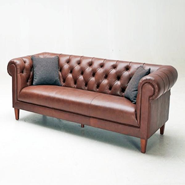 Manhattan Modern Grey Leather Sofa Horizon Home Furniture