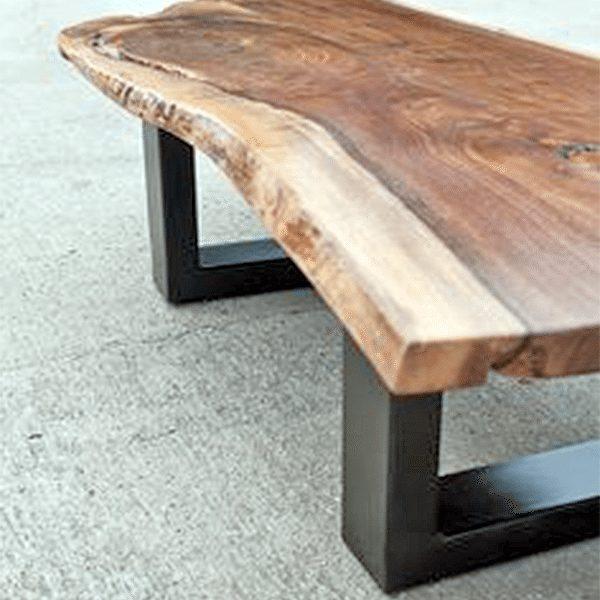 Custom Reclaimed Wood Bench with Black Steel Legs