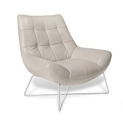 Modigliani White Leather Basket Chair