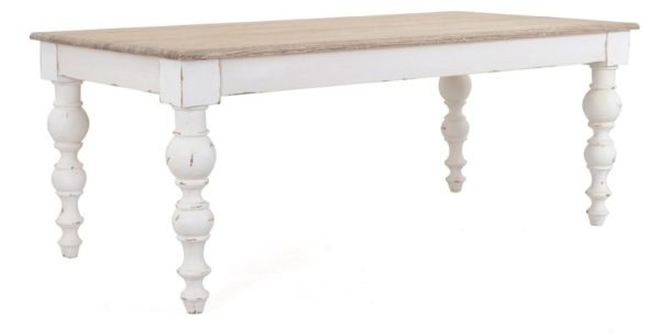 White Solid Wood Dining Table