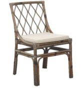 Grey Rattan Dining Side Chair