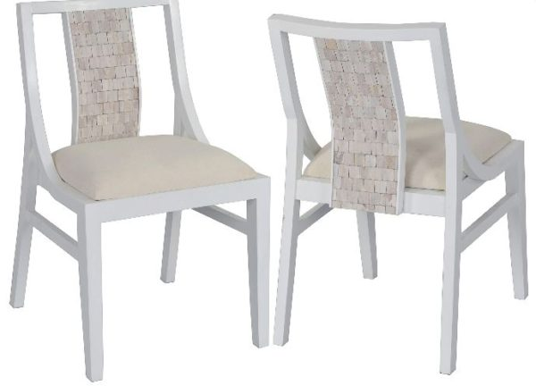 Calvin White Wood Side Dining Chair