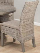 Coastal Burnt Grey Kubu Rattan Dining Chair