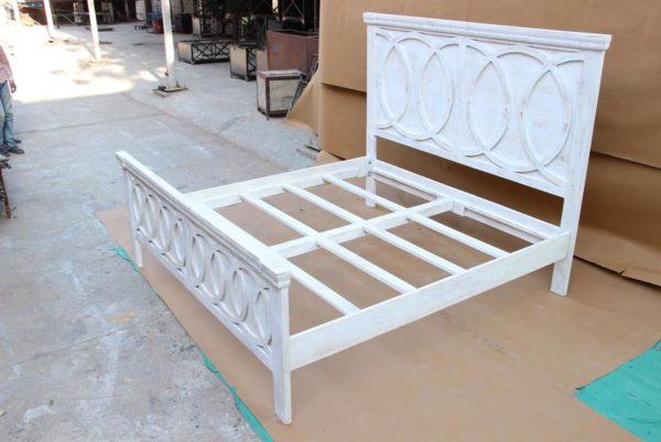 White wash Bed