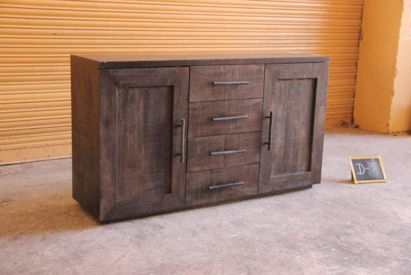 Dark Brown Wood Sideboard