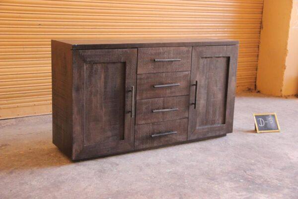 Dark Brown Wood Sideboard