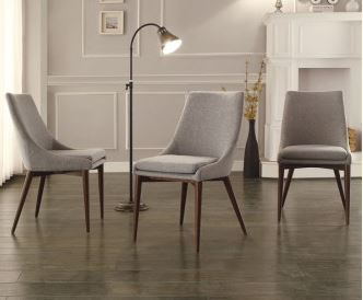Upholstered Dining Chair with Wood Legs