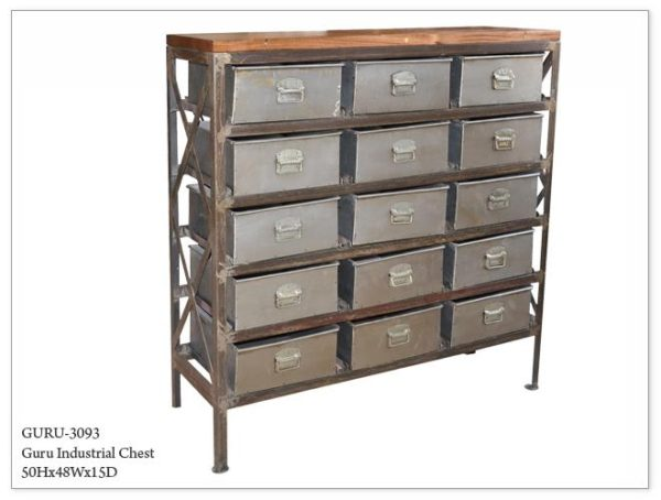 15 Drawer Industrial Chest