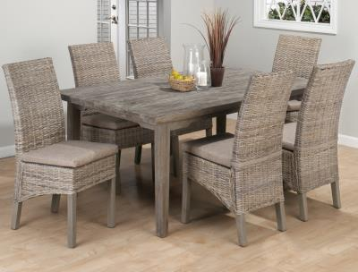 Rustic Wood Dining Set