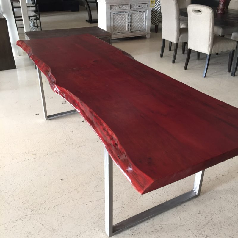 Horizon Home Custom Live Edge 8 Table