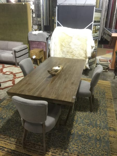 Dark Brown Wood Dining Table