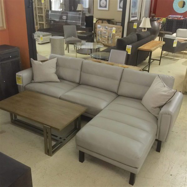 Ludwig Leather Sectional with Chaise