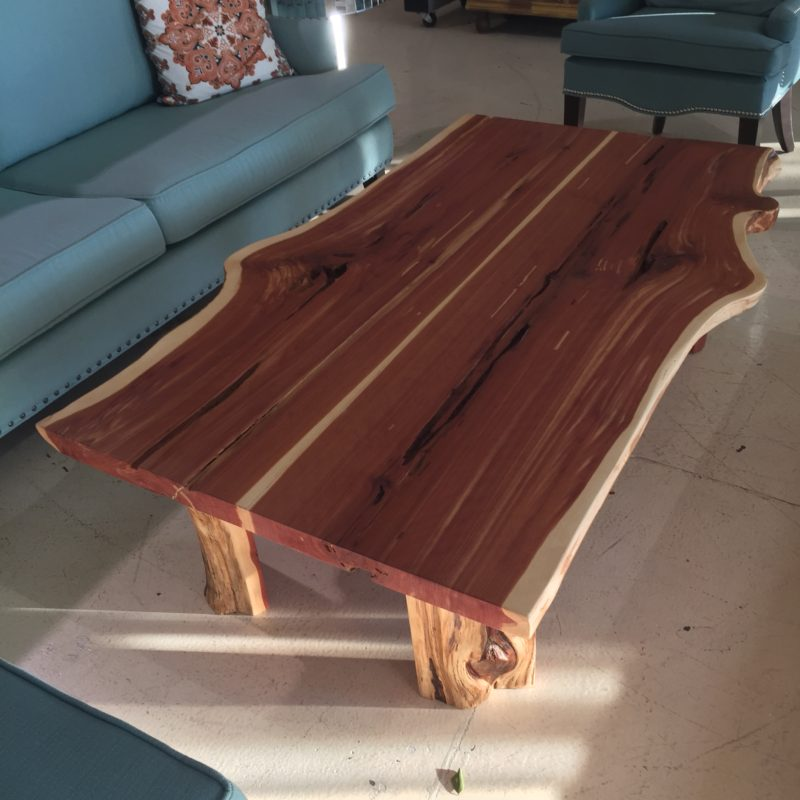 Custom Live Edge Cedar Coffee Table Horizon Home Furniture