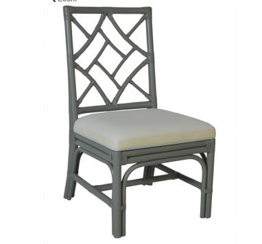 Side Chair in Grey with Cushion