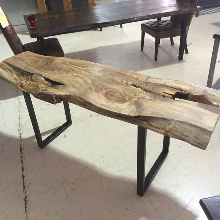 Horizon Home Custom Live Edge Console Table