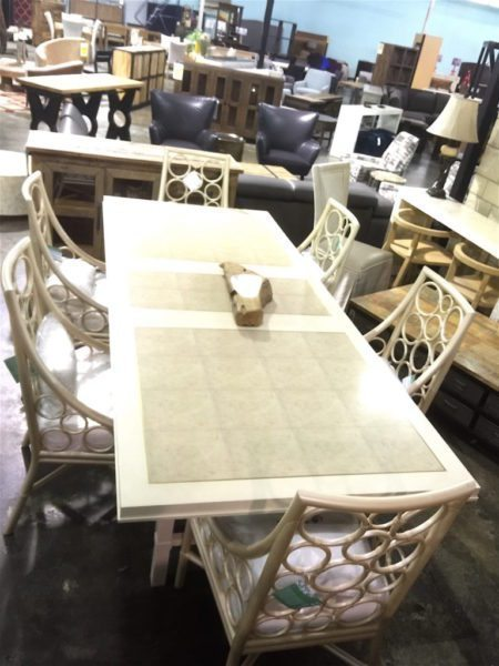 Bernhardt Salon Dining Table and Dining Chairs