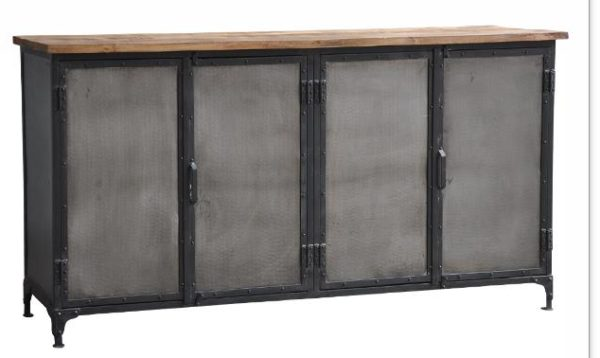 Stamford Four Door Industrial Sideboard