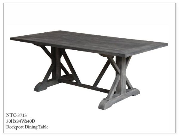 Grey Wood Dining Table