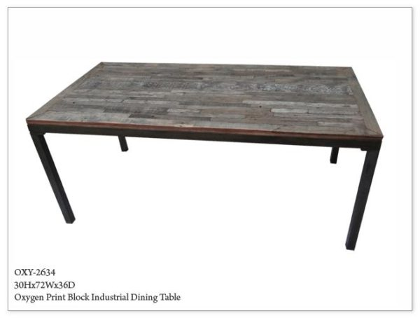 Oxygen Industrial Dining Table