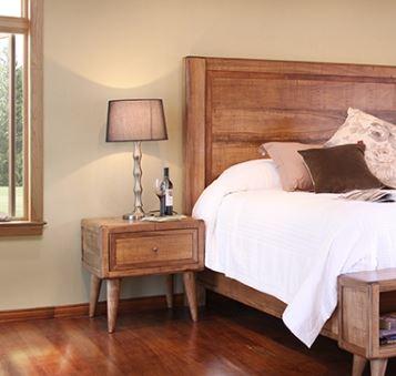Horizon Home Solid Habillo Wood Nightstand