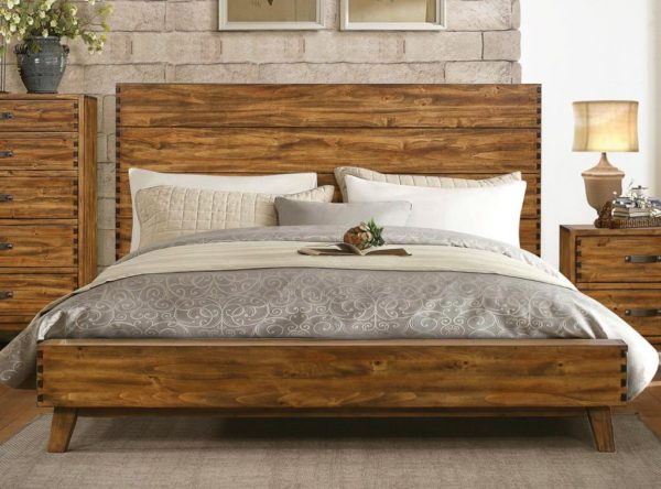 Poplar Burnished Finish Bed