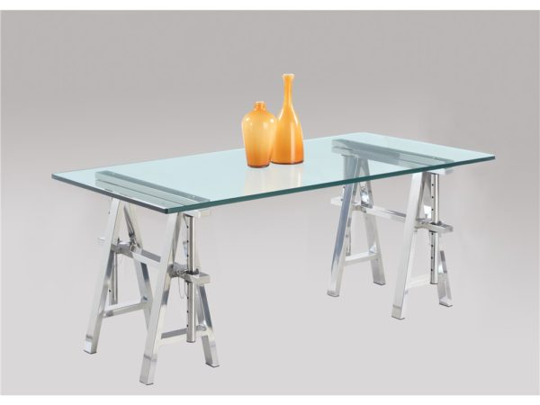 Argenti Telescoping Glass Desk