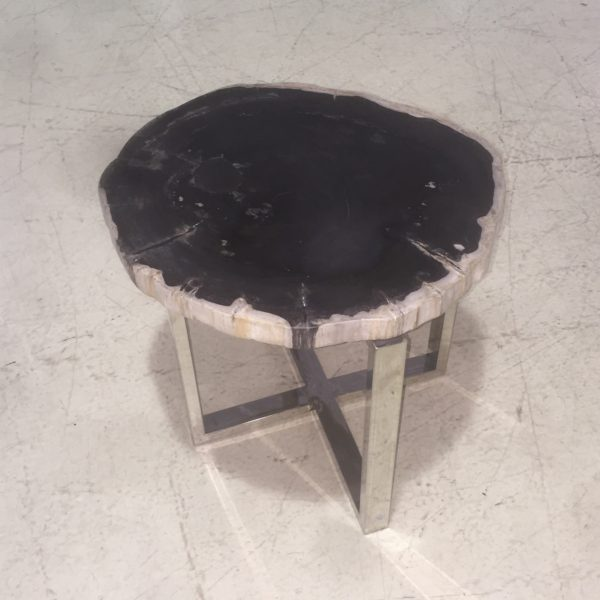 Black Petrified Wood Table