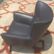 Grey Leather Upholstered Chair