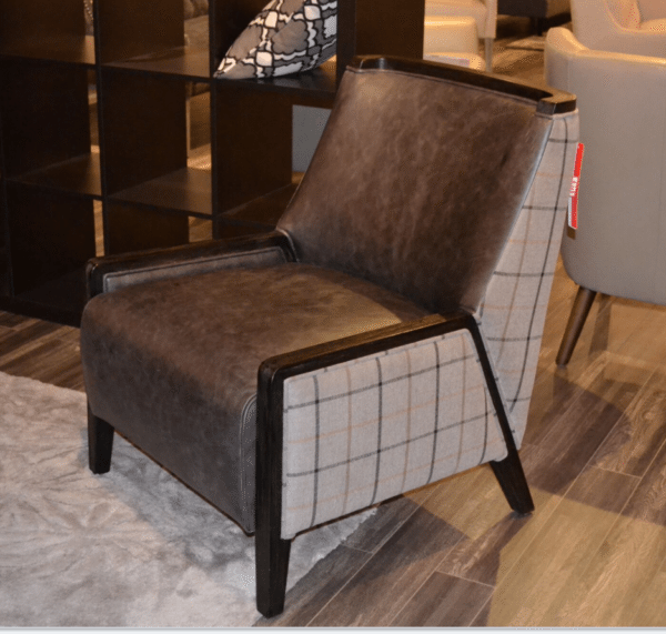 tartan hardwood chair horizon home furniture. Black Bedroom Furniture Sets. Home Design Ideas