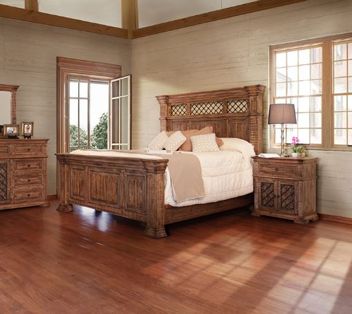 Solid Pine Wood Bed