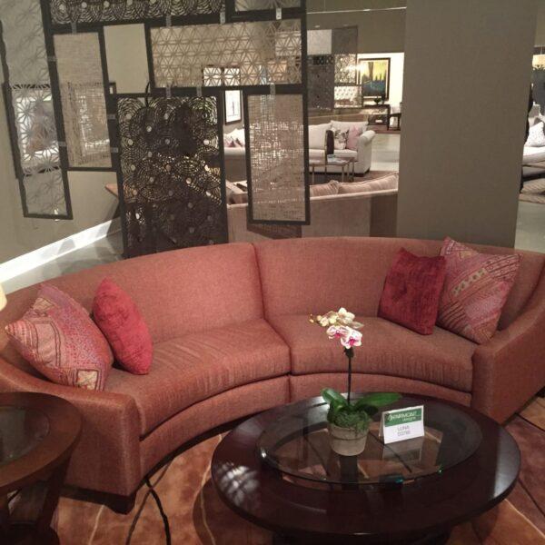 Cooper Light Brown Upholstered Sectional Sofa