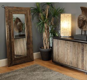 Rustic Finished Full Length Mirror