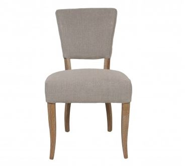 Upholstered Modern Dining Chair in Taupe