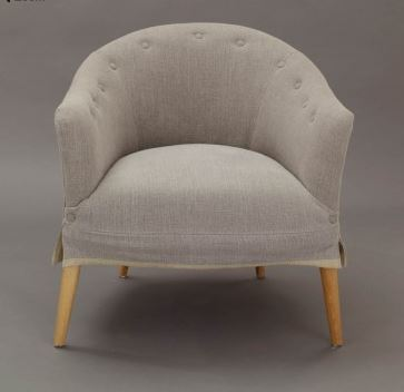 Curved Upholstered Occasional Chair