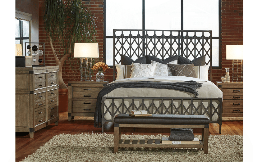 Metalworks gate bed horizon home furniture for Gatehouse furniture