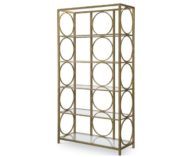 Five Shelf Glass Display Etagere Legacy
