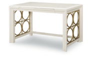 Pearl Writing Desk with Gold Circle Accented Legs