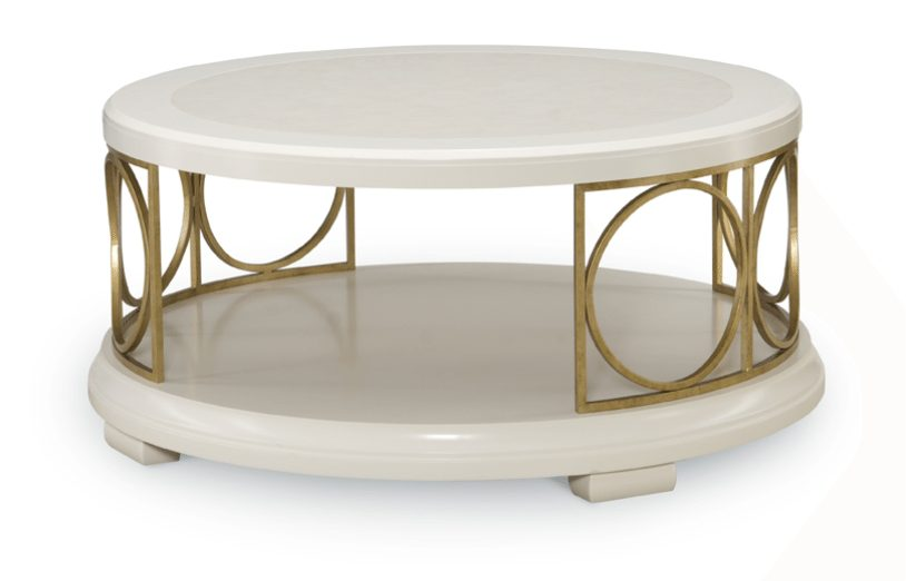 Pearl round cocktail table horizon home furniture Round cocktail table