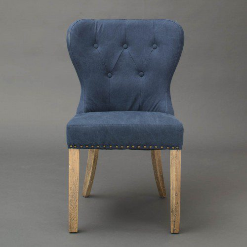 Upholstered Dining Chair-Blue