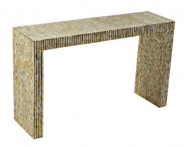 Capiz Shell Console Table