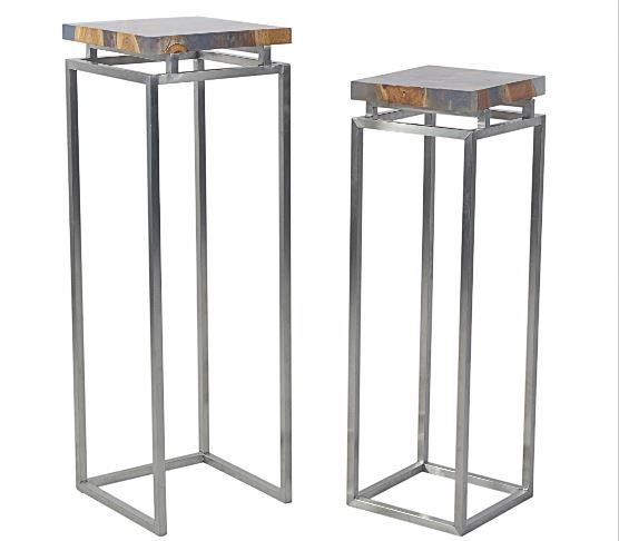 Pedestal Set of 2 Metal Bases