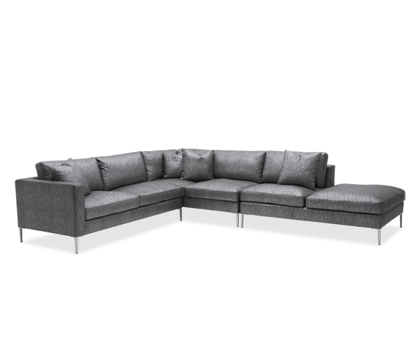 Michael Amini Studio Aeria 3Pc Sectional in Black