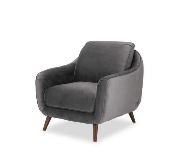 Studio Brussels Gray Upholstered Chair by Aico