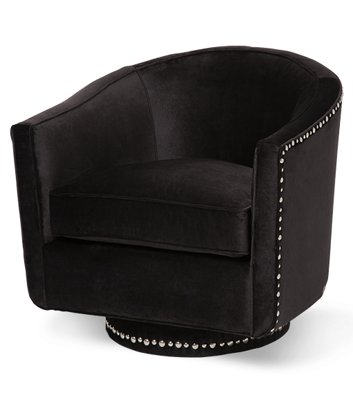 St Loren Nailhead Swivel Chair