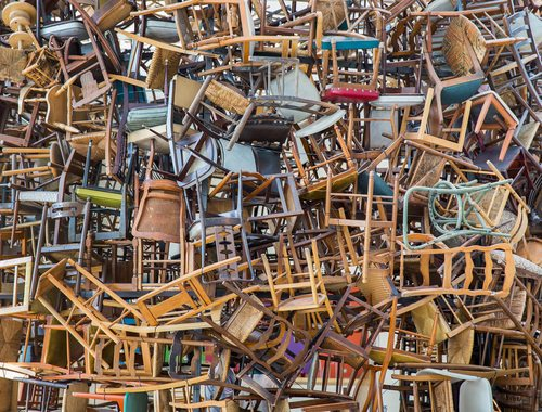 Stack Of Chairs Messy Horizon Home Furniture