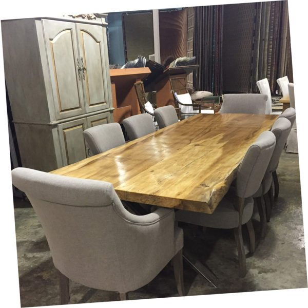Hand Crafted Live Edge Dining Table With Chairs