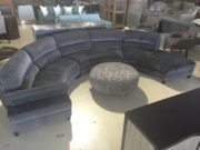 Curves Sectional Grey Upholstered
